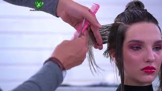 SHORT HAIR CUT. HAIR EDUCATION. English subtitles