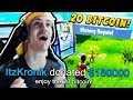 NINJA PLAYS FOR $180,000 DONATION WIN *20 BITCOIN* - Fortnite Best & Funny Moments (HE HAS TO WIN)