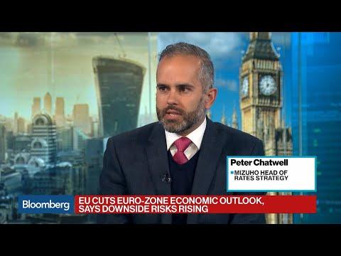 EU Cuts Euro-Zone Economic Outlook