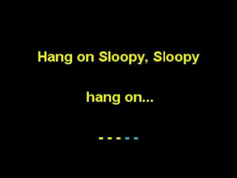 Hang on Sloopy - In the Style of The McCoys (Karaoke) Womens Solo