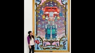 Huge Transformers Art in Time-Lapse. Optimus Prime Oil Painting.