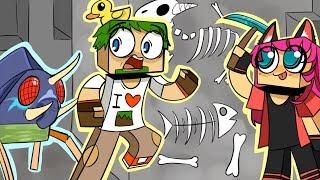 ч.27 Офигенный разлом с рудами, WTF новый житель зоопарка!! - Minecraft Страшные приключения