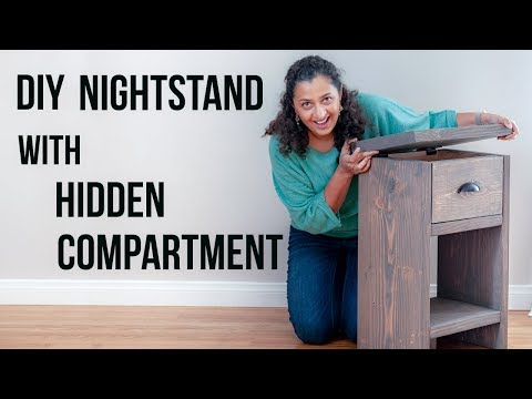 DIY nightstand with secret compartment and drawer