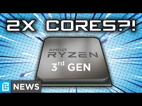 3rd Gen Ryzen Getting 2X Core Count, HUGE Performance Increase?!