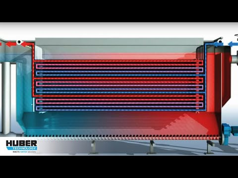 HUBER Wastewater Heat Exchanger RoWin - Animation