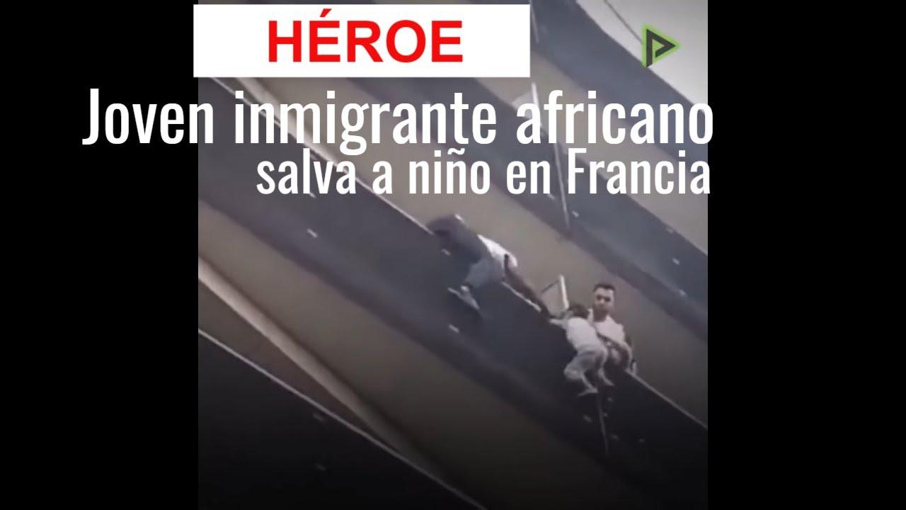 Héroe Joven Inmigrante Africano Salva A Niño En Francia Youtube