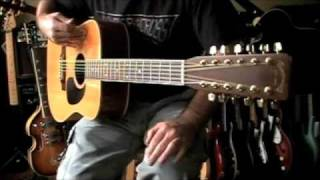 Vintage 1978 Takamine (Martin Lawsuit) F-400S 12 String Acoustic Guitar Demo/Review strung 6 & 12