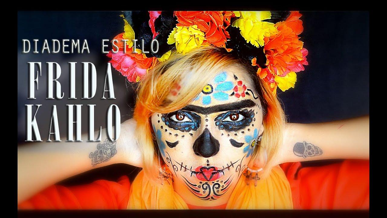 Diadema estilo frida kahlo youtube - Estilo frida kahlo ...