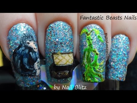 Fantastic Beasts And Where To Find Them Diy Nail Art Tutorial Youtube