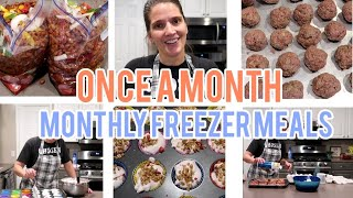 Large family Monthly Freezer Meal Prep   an easy day