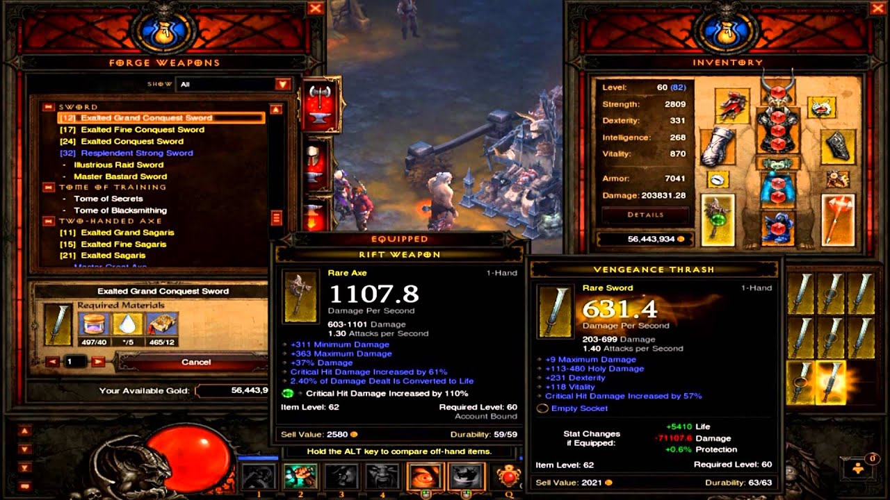 Gaming Amp Tech Stuff Diablo 3 Crafting 100 Conquest Swords