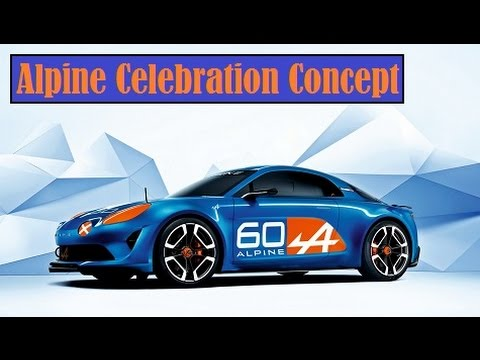 Alpine Celebration Concept, unveiled at Le Mans