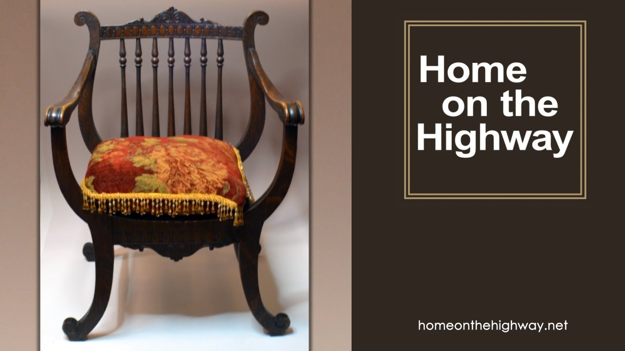Chicago Antique Shops - Vintage Harp Chair - Home on the Highway - Chicago Antique Shops - Vintage Harp Chair - Home On The Highway