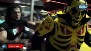 L.A Park e Hijo de L.A Park vs Rush y Místico en la Arena Afición de Pachuca