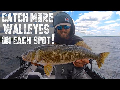 How To Catch MORE Walleyes On A Spot!
