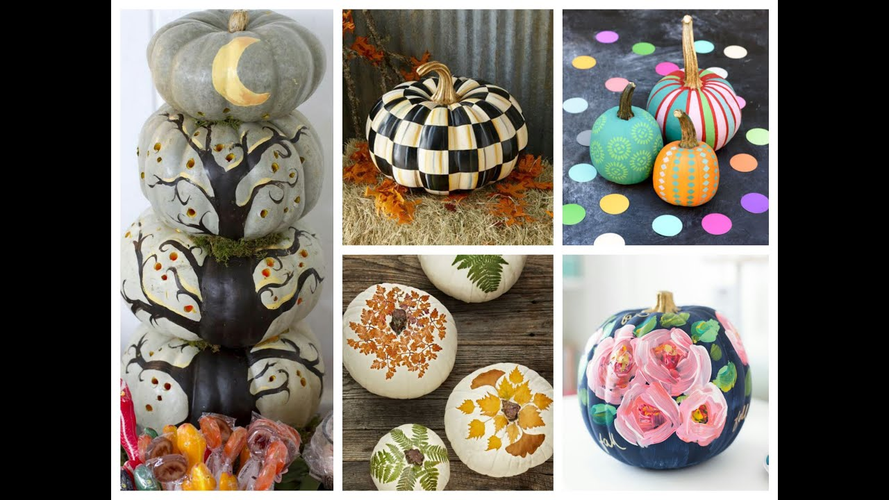 pumpkin painting ideas - best no carve pumpkins for halloween