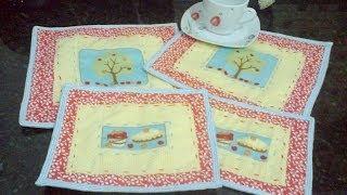 Aprenda a fazer um joguinho de tapetinhos para chá (Mug Rug) parte 2