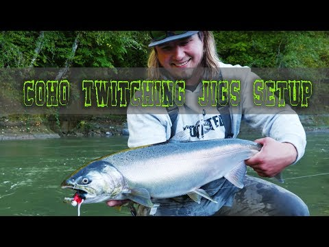 Coho Salmon Fishing Tips | Twitching Jig Setup For Coho Fishing 🎣
