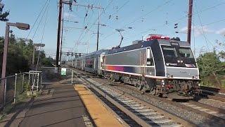 NJ Transit and Amtrak trains railfanning at Jersey Ave part 2