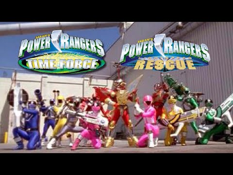 Power Rangers Time Force/Lightspeed Rescue Team Up - Alternate Opening