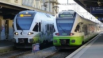 Swiss Trains: A la gare de Neuchâtel / At Neuchâtel Station, 03Jan17