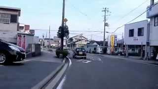 動画ブレ注意! 自転車で走行中に、信号の無い横断歩道で一時停止をして...