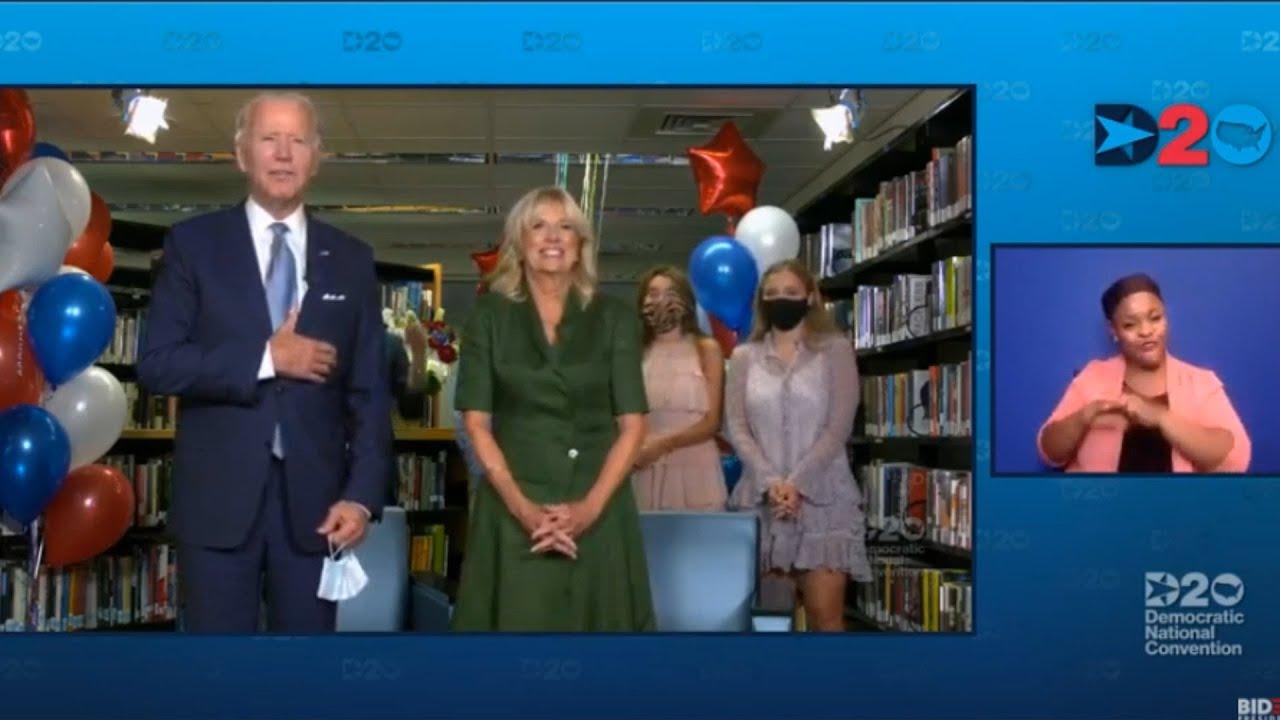 Joe Biden es nominado como candidato demócrata a la Casa Blanca
