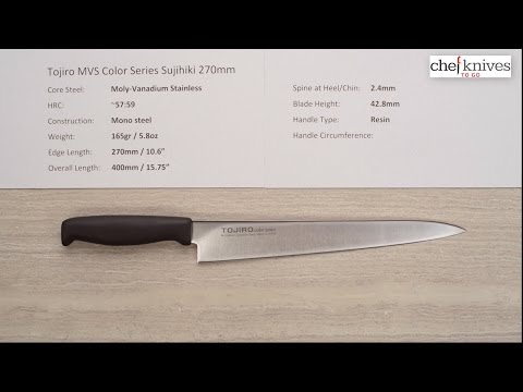 Tojiro MVS Color Series Sujihiki 270mm Quick Look