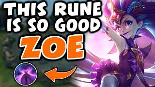 This rune is BROKEN on ZOE | Challenger Zoe | 10.3 - League of Legends