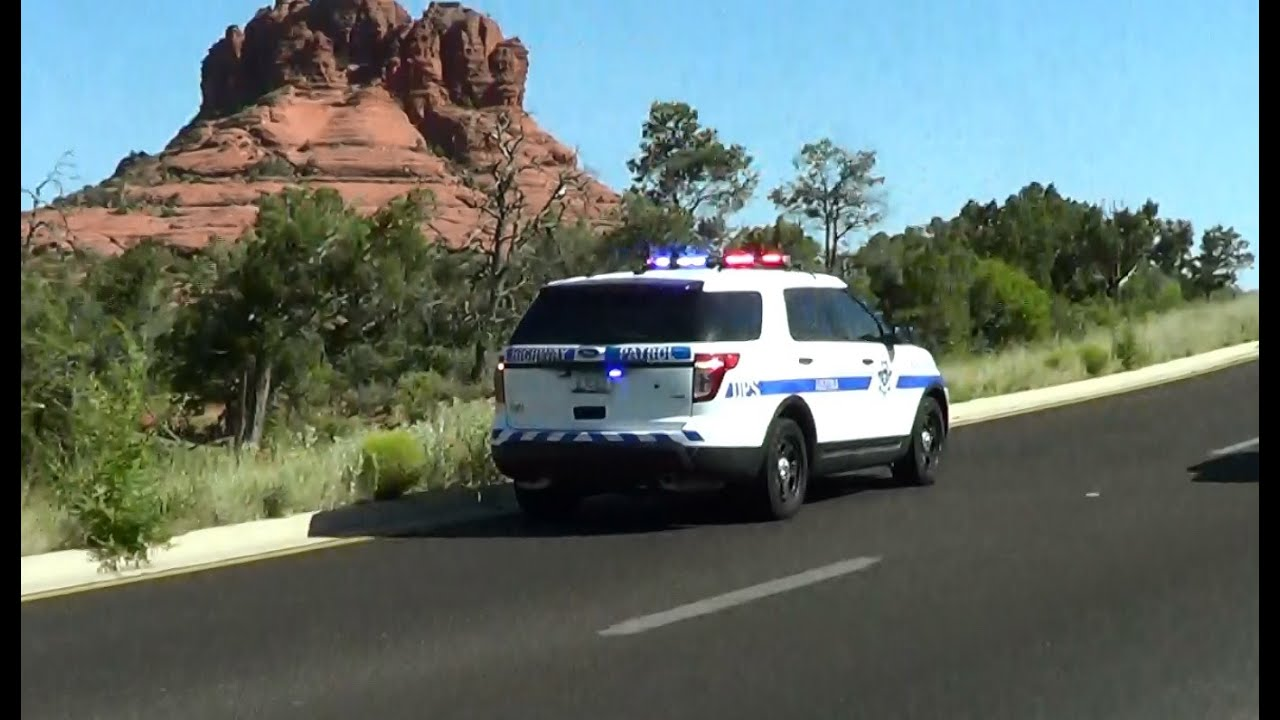 Prescott Arizona DPS Highway Patrol Ford Explorer responding near