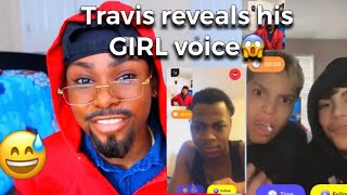 REVEALING MY GIRL VOICE😨 | Travis Edition (they were scared)