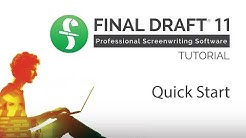 Getting Started with Final Draft 11