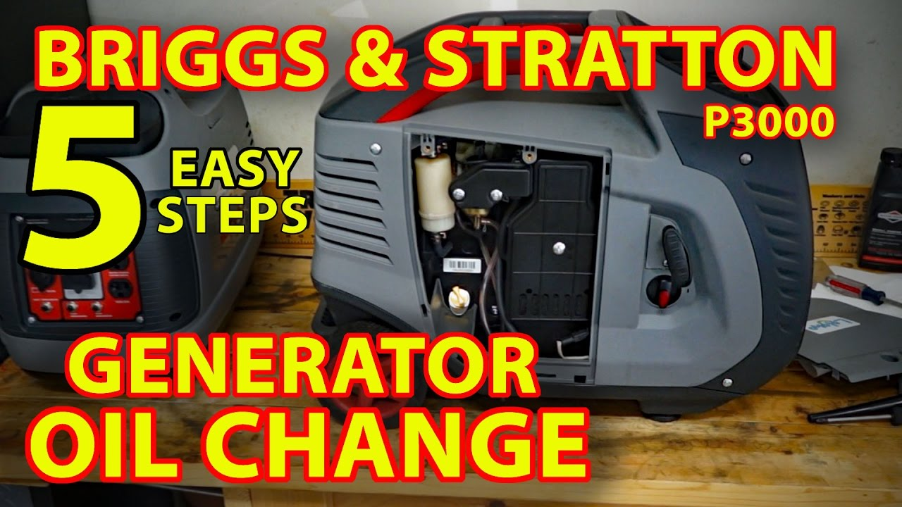 Oil change briggs stratton p3000 generator 5 easy - How long do generators last ...