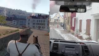 Virtual Timetravel in Luxembourg (Splitscreen)