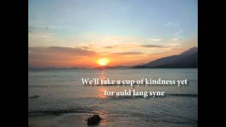 Auld Lang Syne lyrics - piano and voice with strings