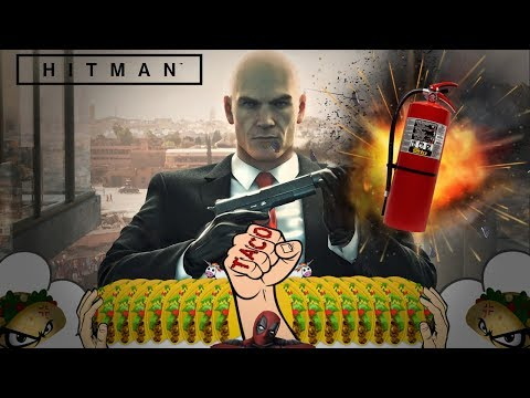 HITMAN - Kill Everyone/Knock Out **Fire Extinguisher Only** Fire Marshal 47 🔴 LIVE