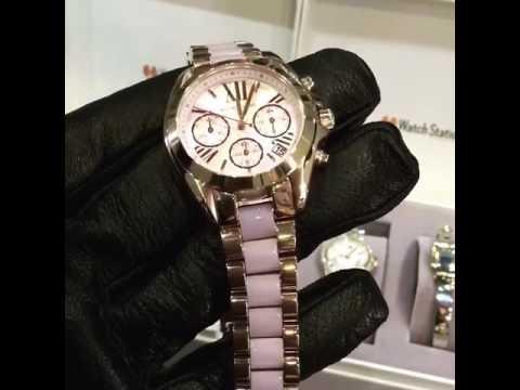 bbcf6ac144c45 MICHAEL KORS Bradshaw Mini Chronograph Rose Dial Rose Gold-tone Ladies  Watch Item No.