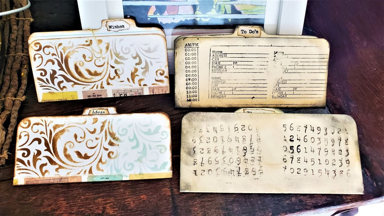 How to Make Mini File Folders for Your Junk Journals! Fun & Easy Tutorial! The Paper Outpost! :)