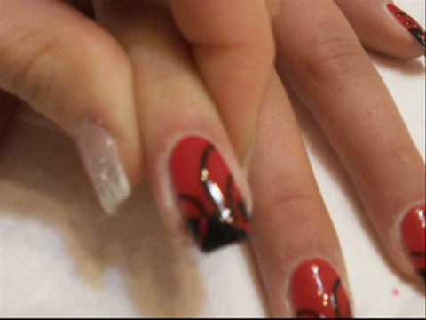 Abstract new year nails tutorial