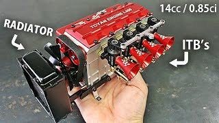 Inline 4 Cylinder FOUR Stroke 13,500 rpm RC Engine!