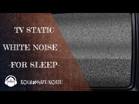 TV Static White Noise For Sleep And Masking The Disturbing Noise
