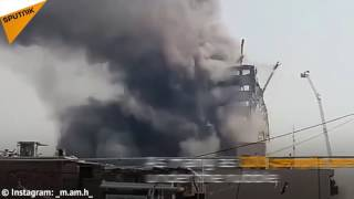 High-Rise Building on Fire Collapses in Tehran