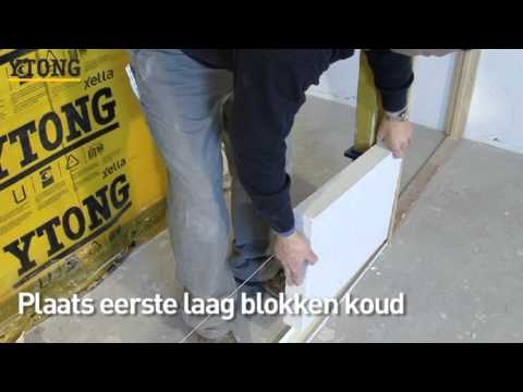 zo bouw je een ytong wand in een handomdraai youtube. Black Bedroom Furniture Sets. Home Design Ideas