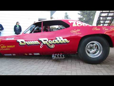 Dunn and Reath Restored Funny Car Fire Up