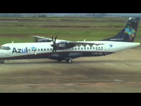 SBMG: Táxi Azul ATR 72-600 PR-AQE em Maringá (MGF) SBMG.