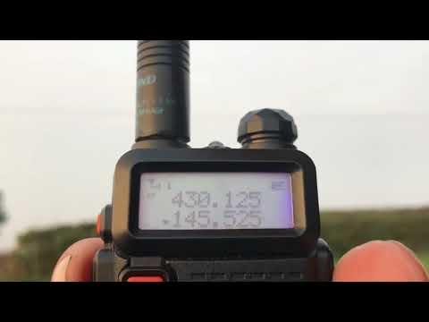 Baofeng UV5R Low Power Rubber Duck Range Test 0.7w Low Pwr