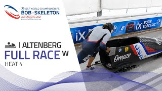 Altenberg | BMW IBSF World Championships 2021 - Women's Monobob Heat 4 | IBSF Official