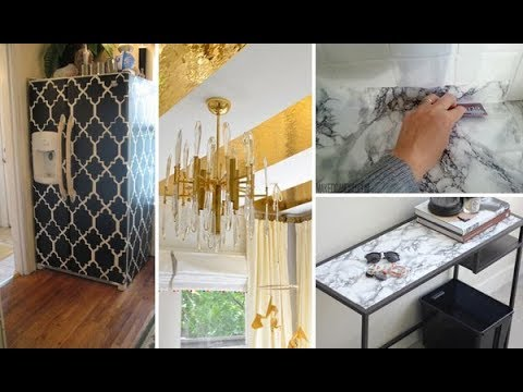 Contact Paper Decorating Ideas | DIY Marble Table & Desk | DIY Room on small home organization ideas, kitchen organization ideas, small kitchen design ideas, diy projects on a budget,