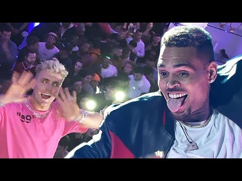 Chris Brown Crashes Jake Paul House Party After Refusing Boxing Match