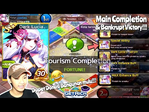 GAMEPLAY S+ DARK LUCIA!!! CARD GG KAH?!! | LINE LET'S GET RICH INDONESIA